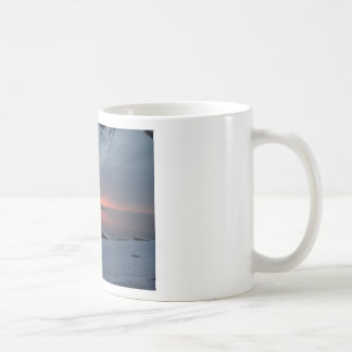 Lever de soleil d'hiver tasses à café