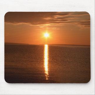 Lever de soleil du lac Huron Tapis De Souris