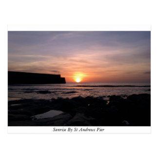 Lever de soleil par le pilier de Saint Andrews Cartes Postales