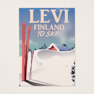 Levi, Finland ski travel poster Business Card