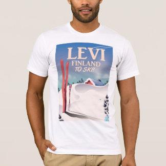 Levi, Finland ski travel poster T-Shirt