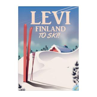Levi, Finland ski travel print Acrylic Print