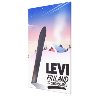 Levi Finland Snowboarding travel poster Canvas Print