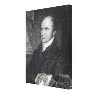 Levi Woodbury, engraved by Robert E. Whitechurch ( Canvas Print