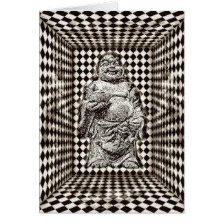 Levitating Buddha Birthday Card