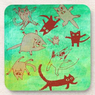 levitating kitties coaster