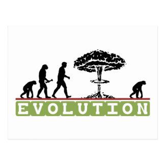L'évolution drôle évoluent carte postale