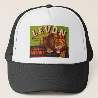 Levon California Melons Crate Label Trucker Hat