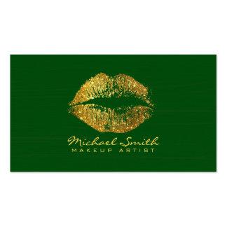 Lèvres #7 d'or de scintillement de maquilleur carte de visite standard