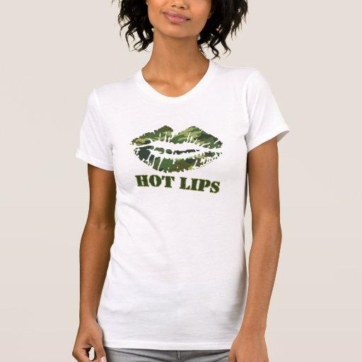 Lèvres chaudes de MÂCHE T-shirts