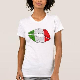 Lèvres italiennes de drapeau t shirts