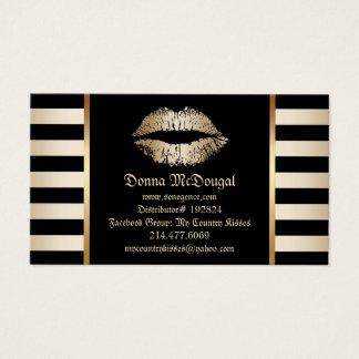 Lèvres modernes d'or de distributeur de produit de cartes de visite