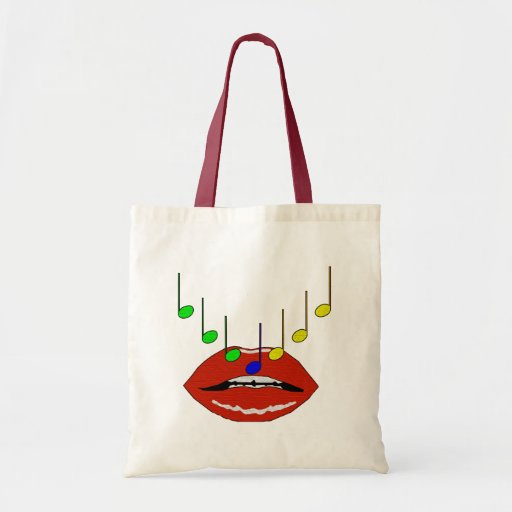 Lèvres musicales sac fourre-tout