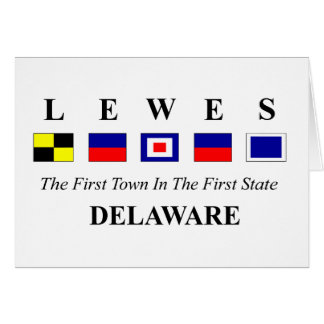 Lewes, DE 2- Nautical Flag Spelling Card