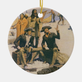 Lewis and Clark at the Columbia River Ceramic Ornament