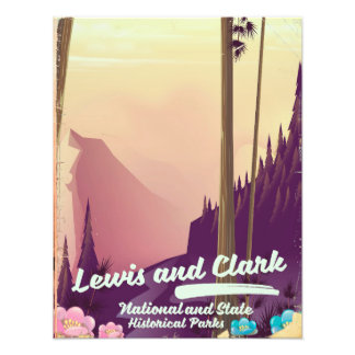 Lewis and Clark National and state park poster