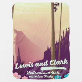 Lewis and Clark National and state park poster Baby Blanket