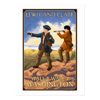 Lewis and Clark - Walla Walla, Washington Postcard