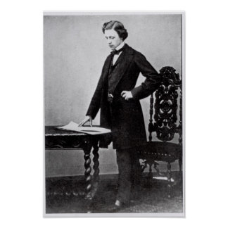 Lewis Carroll  aged 29 Poster