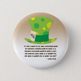 Lewis Carroll Mad Hatter Alice in Wonderland 2 Inch Round Button