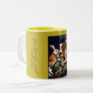 Lewis Carroll Two-Tone Coffee Mug