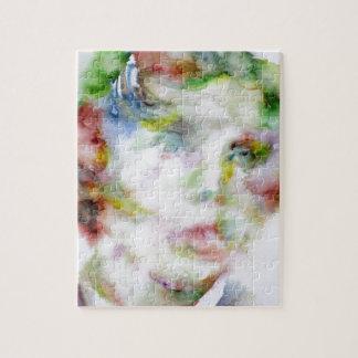 LEWIS CARROLL - watercolor portrait.1 Jigsaw Puzzle