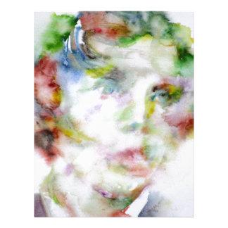 LEWIS CARROLL - watercolor portrait.1 Letterhead