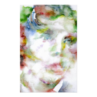 LEWIS CARROLL - watercolor portrait.1 Stationery