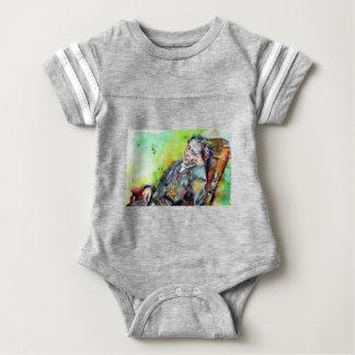 LEWIS CARROLL - watercolor portrait.2 Baby Bodysuit