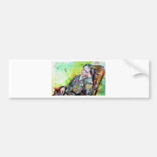 LEWIS CARROLL - watercolor portrait.2 Bumper Sticker