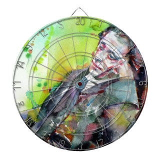 LEWIS CARROLL - watercolor portrait.2 Dartboard