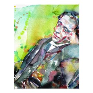 LEWIS CARROLL - watercolor portrait.2 Letterhead