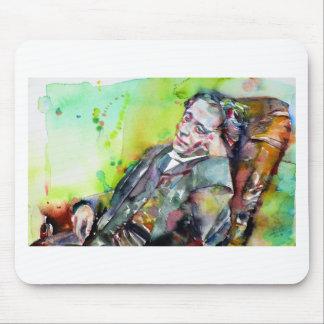 LEWIS CARROLL - watercolor portrait.2 Mouse Pad