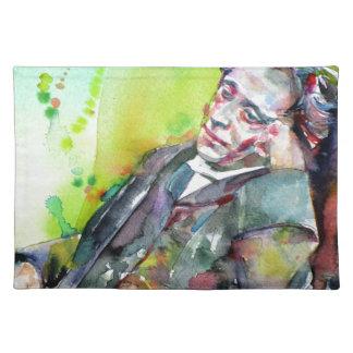 LEWIS CARROLL - watercolor portrait.2 Placemat