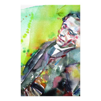 LEWIS CARROLL - watercolor portrait.2 Stationery