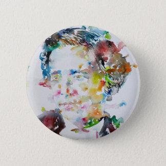 LEWIS CARROLL - watercolor portrait.3 2 Inch Round Button