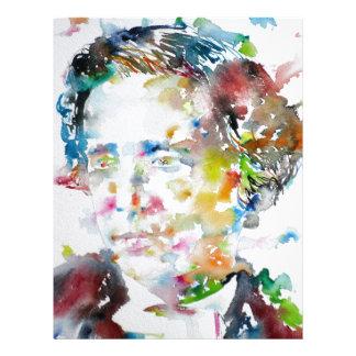 LEWIS CARROLL - watercolor portrait.3 Letterhead