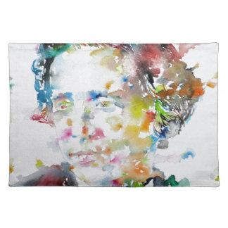 LEWIS CARROLL - watercolor portrait.3 Placemat