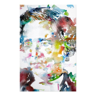 LEWIS CARROLL - watercolor portrait.3 Stationery