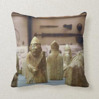 Lewis Chessmen throw pillow