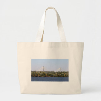 Lewis & Clark Bridge Large Tote Bag