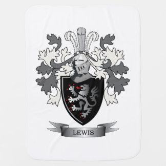Lewis Family Crest Coat of Arms Baby Blanket