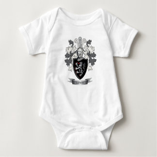 Lewis Family Crest Coat of Arms Baby Bodysuit