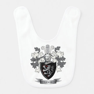 Lewis Family Crest Coat of Arms Bib
