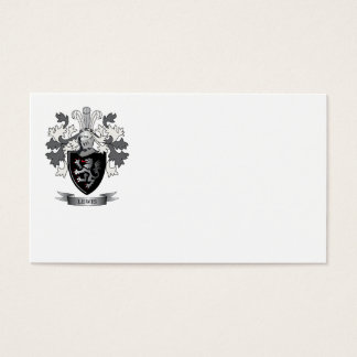 Lewis Family Crest Coat of Arms Business Card