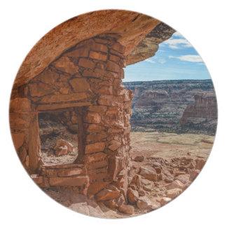 Lewis Lodge Anasazi Ruin - Cedar Mesa - Utah Plate