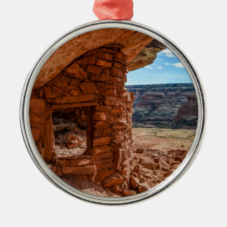 Lewis Lodge Anasazi Ruin - Cedar Mesa - Utah Silver-Colored Round Ornament