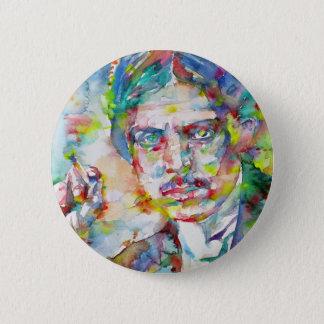 lewis wyndham - watercolor portrait 2 inch round button