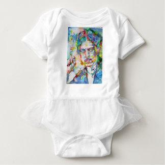 lewis wyndham - watercolor portrait baby bodysuit