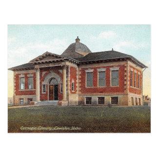 Lewiston, Idaho, Carnegie Library, Vintage Postcard